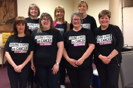 Some of the team from Morrisons in Peterhead who have been fundraising for CLIC Sargent