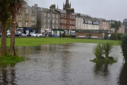 Flooding in Rothesay. Photo by Ronnie Falconer.