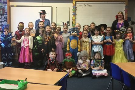 Pupils and staff at Rothesay Primary School dressed up as their favourite book characters.