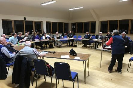 Bute Community Council in session at its March meeting. (Picture: I.L. MacLeod.)