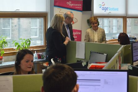 First Minister Nicola Sturgeon visited the Edinburgh helpline office days before the lockdown to announce an additional �80,000 funding for Age Scotland, to scale up its helpline and allow staff to work remotely, and safely, from home.