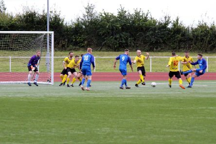 Action from Carluke Rovers v Bellshill on Saturday (Pic by Kevin Ramage)
