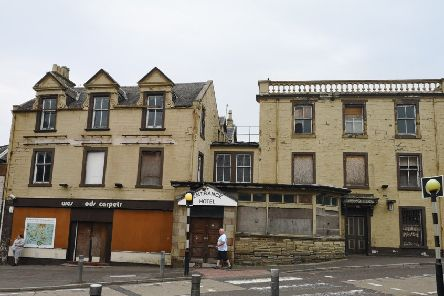 The now shabby exterior of The Royal Oak,once Lanark's principal railway hotels