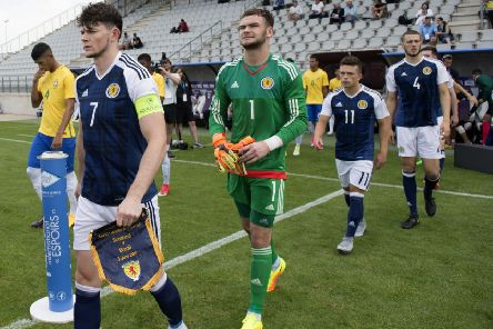 Oliver Burke captained Scotland U20 to victory over Brazil at the Toulon Tournament in June. Picture: Craig Foy/SNS
