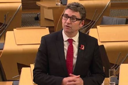 South of Scotland  MSP Brian Whittle during the debate.