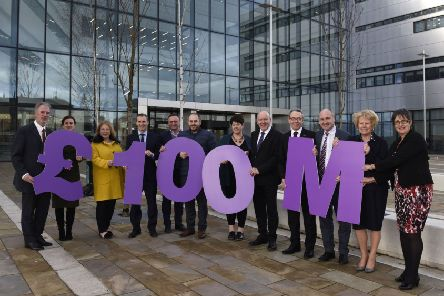 Scottish Government Infrastructure Minister Michael Matheson joined Ayrshire council leaders in celebrating the Scottish Government's commitment to �100m of funding for the Ayrshire Growth Deal.