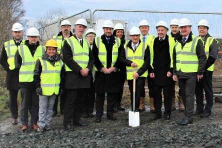 Work on creating seven chalet style bungalows at Girvan for the travelling community got underway last week.