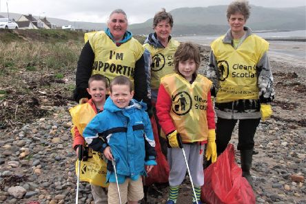 Rotary organised beach cleans along South Ayrshire coast