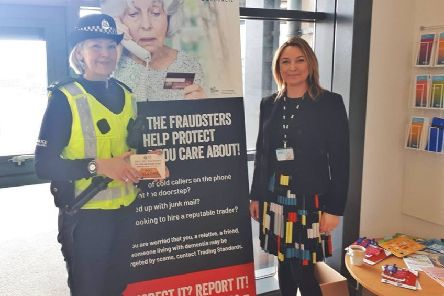 Police have been out and about in South Ayrshire raising awareness  of doorstep scammers at information events in Ayr, Troon and Girvan.