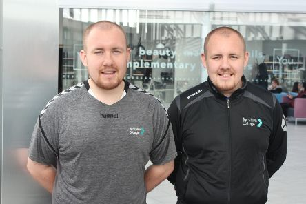 Lewis and Ryan McGregor, HND Coaching and Developing Sport graduates.