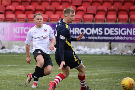 John Rankin scores Clyde's third against Stirling Albion (pic by Craig Black Photography)