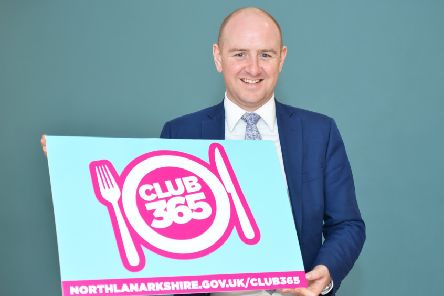 Councillor Frank McNally welcomed an extra �1 million investment to continue funding  Club 365 after positive feedback from parents over the past 12 months