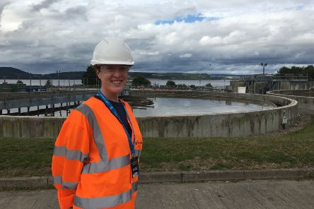 """Sarah Gowanlock (25) visited Allanfearn Waste Water Treatment in Inverness last year. She said: 'What an opportunity! I got to see where the water goes after flushing and learned so much. So much care and thought went into the presentations and we received a really warm welcome."""""""