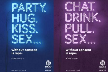 Posters for the campaign send out the clear message that sex without consent is rape.