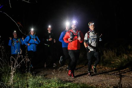 The Illuminator Run''Runners on the course of the Illuminator Night Trail race for the 15KM and 15 Mile.