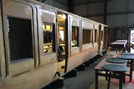 The carriage was gifted to the Deeside group to bring back into running order. Picture: Royal Deeside Railway
