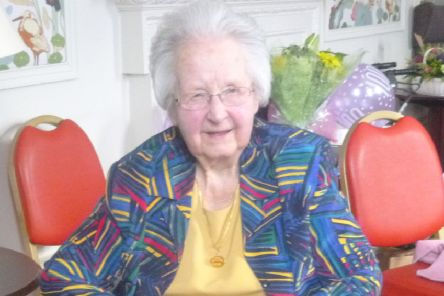 Jean Butchart celebrates her 100th birthday at Inchmarlo