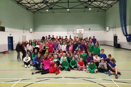 Pupils at Banchory Academy completed their first ever sponsored overnight Sportathon this week in order to raise money for school sport and local charity, Home-Start Deeside. Over �6000 raised.