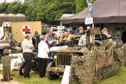 Visitors have been fascinated by the military exhibits at previous events