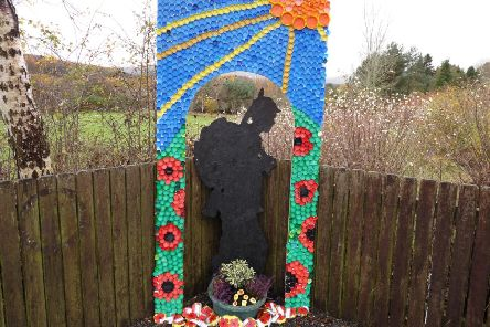 The artwork project has been located next to Strachan war memorial