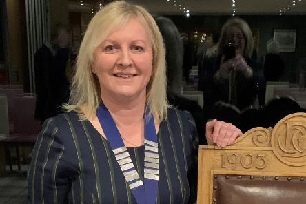 Elaine makes history as the first female captain of Deeside club