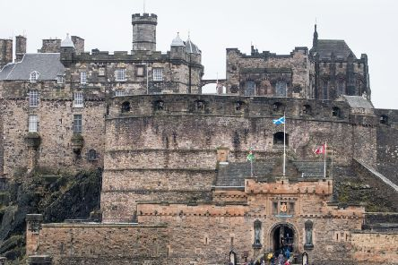 Edinburgh Castle is home to one of the earliest depictions of the US flag.