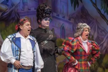 The Kings 2017 Panto - Andy Gray as Buttons 'Grant Stott as Hibernia Hardup' Allan Stewart as Fairy May 'Photo by Douglas Robertson