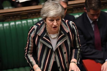 Theresa May giving her statement to the House of Commons. Picture: Getty Images