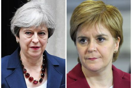 Theresa May has insisted Scotland's business leaders are behind her Brexit deal as she warned Nicola Sturgeon to stop exploiting the issue to push for a second referendum. Pictures: PA