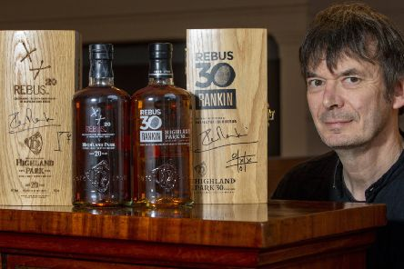 Author Ian Rankin, who created the character Inspector Rebus, will sell two special Rebus anniversary bottles of whisky. Picture: SWNS