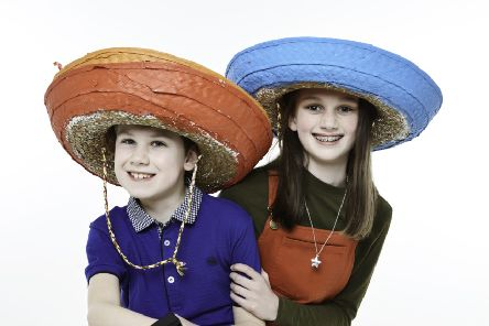 Chloe Lowther, 11, and her brother Oscar, nine, are featuring in this year's national Wear A Hat Day campaign by the Brain Tumour Research charity.