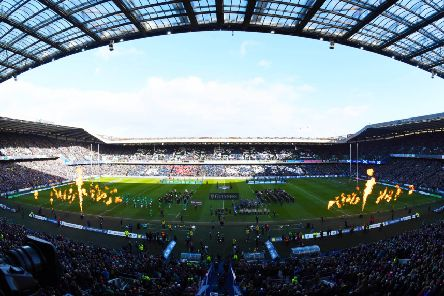 BT Murrayfield shortly before kick-off. Picture: SNS