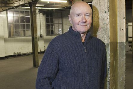 Irvine Welsh pictured before an event at Leith's Biscuit Factory to introduce his new novel Dead Men's Trousers.