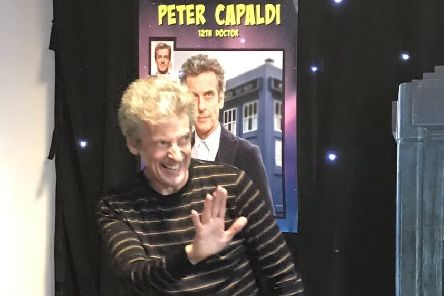 Peter Capaldi spent hours signing autographs for fans at the Capital Sci-fi Con