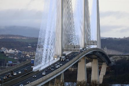 Heavy delays are expected next month north of the Queensferry Crossing. Picture: Lisa Ferguson