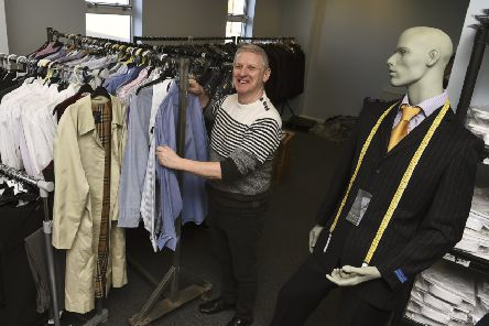 Archie Lowe, employment adviser for Forth Sector, runs a charity called Grass Roots Clothing which provides interview clothing for men.'' Pic: Lisa Ferguson