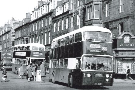 A Leyland Atlantean turns from Castle Street on to Princes Street in 1966. Picture: TSPL