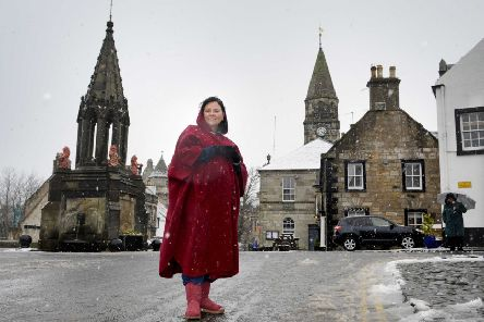 Author Diana Gabaldon in Falkland, Fife, over the weekend where she met superfans of Outlander and toured Falkland Palace. PIC: Visit Scotland/Colin Hattersley.