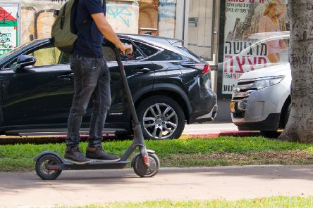 Electric scooters on pavements pose a potential conflict with pedestrians. Picture: Getty Images