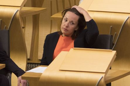Former Scottish Labour leader Kezia Dugdale MSP back at The Scottish Parliament Holyrood after appearing on I'm A Celebrity Get Me Out Of Here in the Australian jungle.