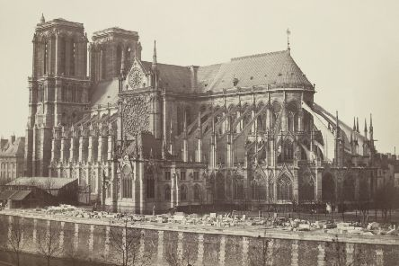 A view showing Notre-Dame de Paris circa 1858-60. Picture: Freres Bisson/Wikimedia Commons