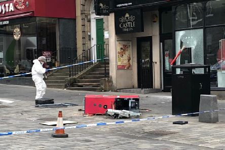 The scene of the robbery this morning