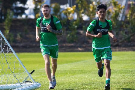 Martin Boyle (left) pictured in training with Yrick Gallantes