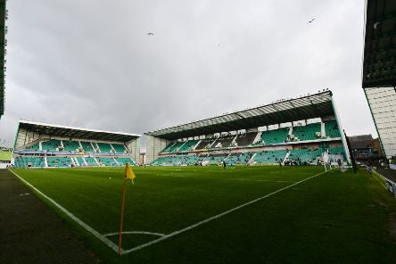 Police deployed detector dogs ahead of the match at Easter Road