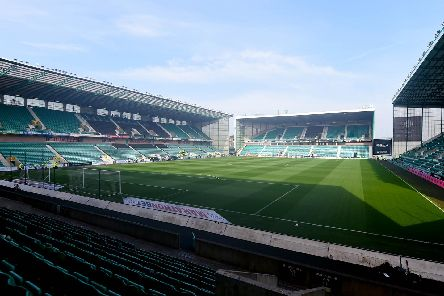 A general view of Easter Road ahead of the Hibs-Celtic clash