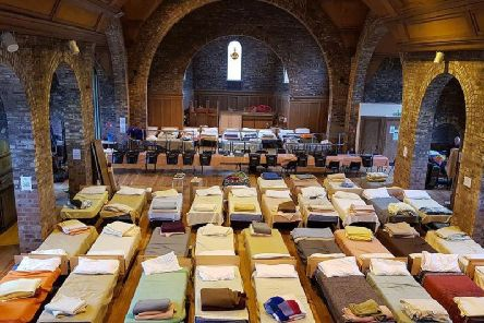 The Bethany Winter Care Shelter transforms a church hall into a shelter for the homeless