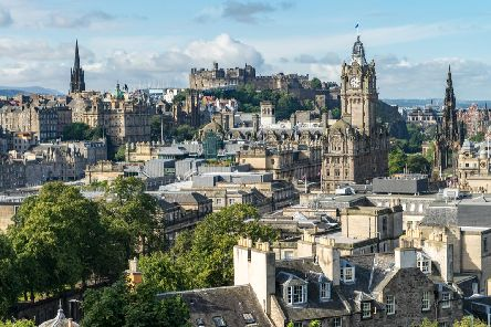The views in Edinburgh are beautiful, and can often be best enjoyed from rooftop bars (Photo: Shutterstock)