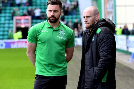 Darren McGregor and David Gray have penned new contract with Hibs. Picture: SNS