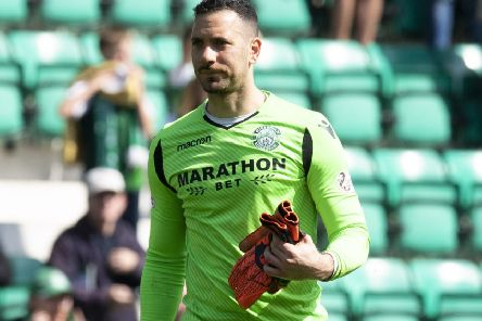 Ofir Marciano has been in good form for Hibs recently. Pic: SNS