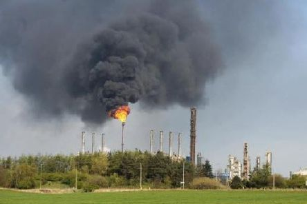 Flaring has been taking place at Mossmoran over recent days